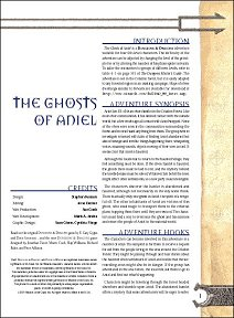 The Ghosts of Aniel