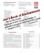 Joe's Book of Enchantment