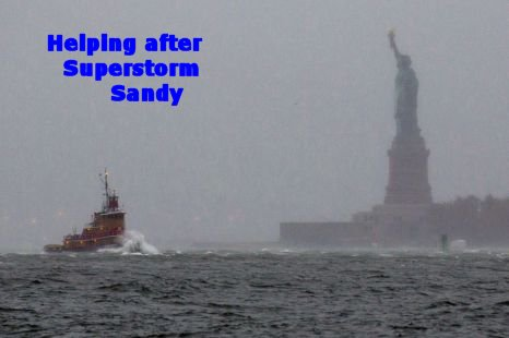 Helping after Superstorm Sandy