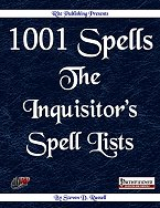 1001 Spells: Inquisitor's Spell Lists - Free Preview