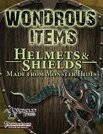Helmets and Shields Made from Monster Hides
